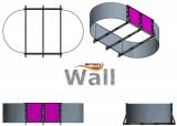 Ovalpool freistehend 7,00 x 3,50 m Germany-Pools Wall