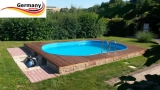 6,30 x 3,60 x 1,25 m Alu Ovalpool Ovalbecken Pool oval