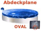 Ovalbecken Elfenbein 8,7 x 4,0 x 1,25 m Komplettset