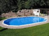 8,50 x 4,90 x 1,32 m Stahlwandpool oval Center Pool freistehend Set
