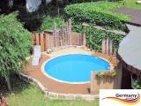4,00 x 1,25 m Swimming Pool Komplettset