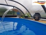 Ovalbecken Blau 5,85 x 3,5 x 1,25 m Komplettset