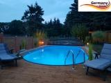 7,15 x 4,0 x 1,25 m Edelstahl Ovalpool Einbau Pool oval Komplettset