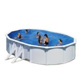 6,10 x 3,75 x 1,20 m Ovalpool Breiter Handlauf Pool