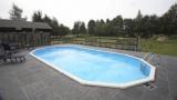 9,75 x 4,90 x 1,32 m Stahlwandpool oval Center Pool freistehend Set