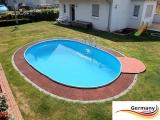 6,23 x 3,60 x 1,20 m Pool oval Komplettset