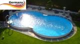 7,25 x 4,60 x 1,25 m Alu-Achtformpool Alu-Achtformbecken Pool