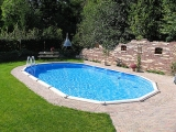 10,50 x 5,50 x 1,32 m Ovalpool Center Pool oval freistehend