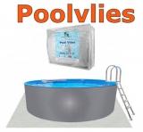 200 x 125 Alupool Komplettset Aluminium-Pool