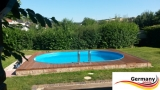 Ovalbecken Grün 6,23 x 3,6 x 1,25 m Komplettset