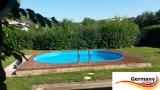 Ovalpool Palisander 615 x 300 x 120 cm