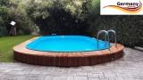 Ovalpool Braun 700 x 420 x 125 cm