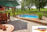 Ovalpool Holz Design 700 x 420 x 120 cm