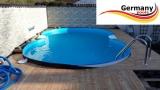 6,25 x 3,60 x 1,25 m Alu-Achtformpool Alu-Achtformbecken Pool