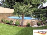 8,00 x 1,20 Holzpool Dekor Holz Design Gartenpool Holz-Optik
