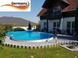 4,70 x 3,00 x 1,25 m Achtform-Gartenpool Achtform-Schwimmbecken