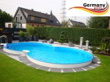 6,25 x 3,6 x 1,2 Achtformbecken Holz-Muster Achtform-Pool Wood