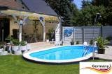 5,25 x 3,20 x 1,20 m Pool oval Komplettset