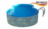 7,25 x 4,6 x 1,2 Achtformbecken Stein-Optik Achtform-Pool Stone
