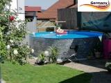 420 x 120 cm Poolset Stone Pool Steinoptik