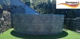 550 x 120 cm Poolset Stone Pool Steinoptik