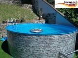 700 x 120 cm Poolset Stone Pool Steinoptik