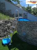 730 x 120 cm Poolset Stone Pool Steinoptik