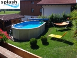7,30 x 3,60 x 1,32 m Ovalpool Center Pool oval freistehend