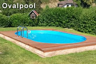 Stahlwandpool Ovalbecken von Profi Poolwelt eingebaut